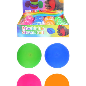 Mouldable Stress Ball 7cm 4 Assorted Colours