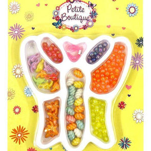 Girls Pretty Craft Beads Kit In Butterfly Tray