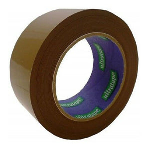 Ultratape Brown Parcel Buff Tape 48mm x 40m - Case of 6
