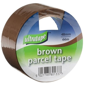 Ultratape Brown Parcel Buff Tape 48mm x 66m - Case of 6