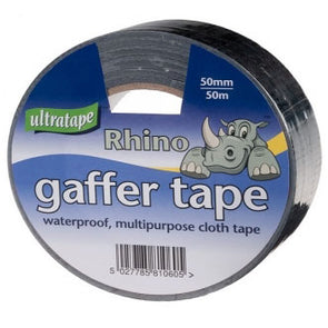Ultratape Rhino Gaffer Cloth Tape Black 50mm x 50m
