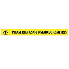 Ultratape Keep Safe Distance Tape 50mm x 33m