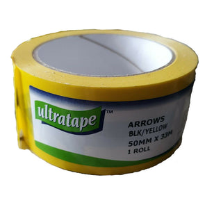 Ultratape Arrow Tape 50mm x 33mUltratape Safety Arrow Tape 50mm x 33m