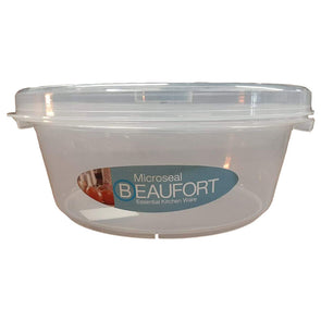 Beaufort Round Microseal Container Clear