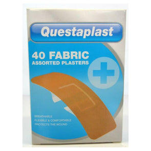 Questaplast Assorted Fabric Plasters 40 pack - Case of 12