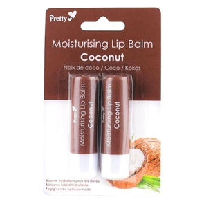 Pretty Moisturising Lip Balm Coconut 2 Pack - Case of 12
