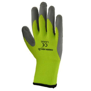 High Vis Winter Work Gloves Green Large