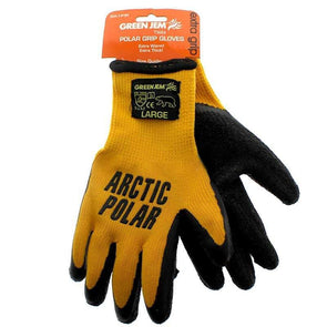 Green Jem Arctic Polar Extra Grip Work Gloves Large