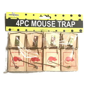 ASD Global Wooden Mouse Trap 4 Pack