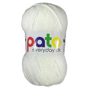 Pato Everyday Double Knitting Yarn - Case of 10 - White