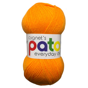 Pato Everyday Double Knitting Yarn - Case of 10 - Neon Orange