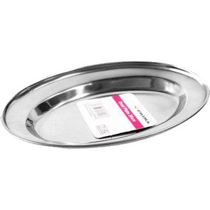 Prima Stainless Steel Oval Plate 20cm