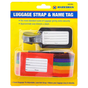 Marksman Luggage Strap & Name Tag