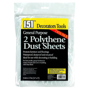 151 Decorators Tools Polythene Dust Sheets Twin Pack