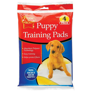 Pride & Groom Puppy Training Pads Mats 4 Pack