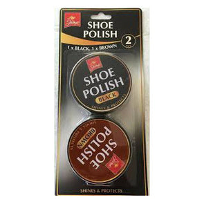Jump Shoe Polish Tin Black & Brown Twin Pack