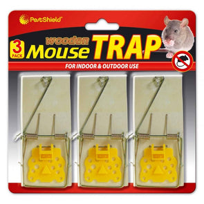 PestShield Wooden Mouse Trap 3 Pack