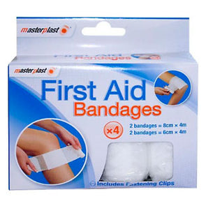 MasterPlast First Aid Bandages 4 Pack