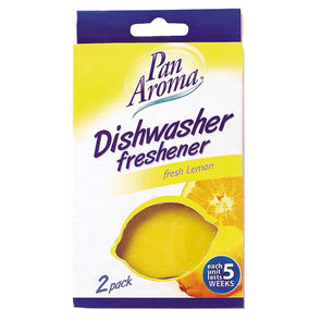 Pan Aroma Dishwasher Freshener Fresh Lemon Twin Pack