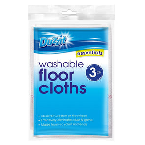 Duzzit Washable Floor Cloths 3 Pack