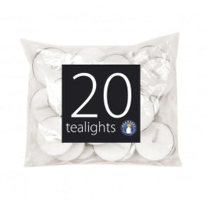 Pan Aroma White Tea Light Candles 20 Pack