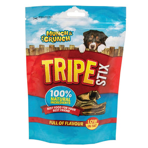 Munch & Crunch Tripe Stix Dog Snack 100g