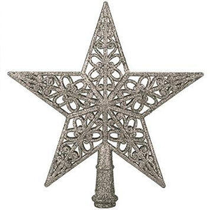 Snow White Tree Top Decorative Star - Case of 12
