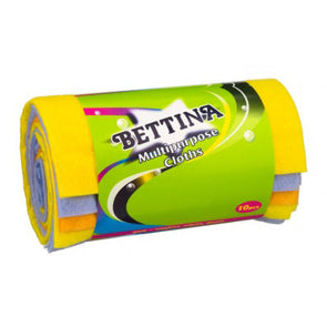 Bettina Multipurpose Cloths 10 Pack Roll