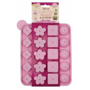 Queen of Cakes Silicone Cake Pop Moulds & 20 Sticks