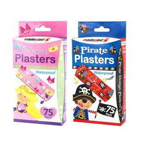 Masterplast Pirate & Princess Plaster 75 Pack
