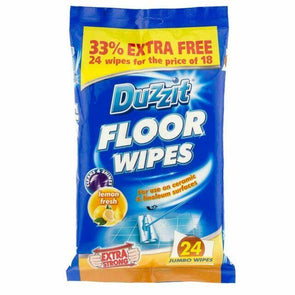 Duzzit Jumbo Floor Surface Wipes 24 Pack - Case of 12
