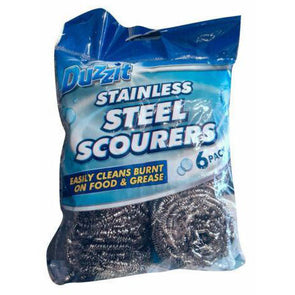 Duzzit Stainless Steel Scourers 6 Ball Pack