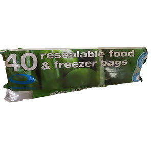 RoundHouse Resealable Food & Freezer Bags 40 Pack Roll