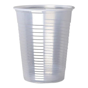 Disposable Plastic Drinking Cups Clear 7oz 100 Pack
