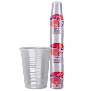 E-lite Style Disposable Plastic Drinking Cups 7oz Clear 100 Pack