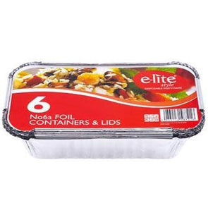 Foil Container & Lids No 6A 6 Pack