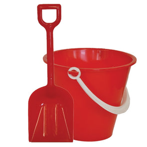 Bucket & Spade Set Small 12cm Red