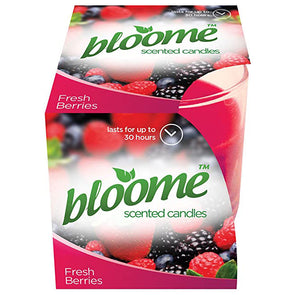 Bloome Scented Glass Candles Assorted Fragrances - Case of 12