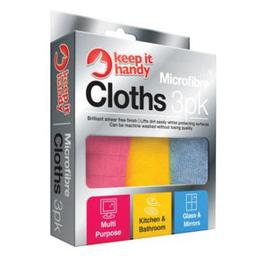 Keep It Handy Microfibre Cloths 3 Pack