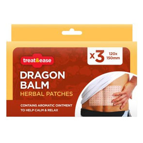 Treat & Ease Dragon Balm Herbal Patches 3 Pack
