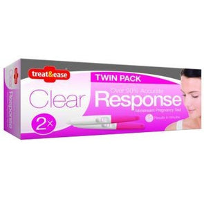 Clear Response Midstream Pregnancy Test 2 Pack