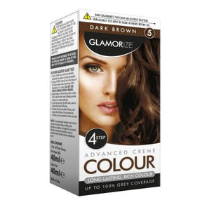 Glamorize Dark Brown Hair Dye Colour No. 5