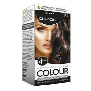 Glamorize Black Hair Dye Colour No. 1