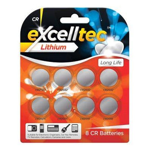 excelltec CR Battery 8 Pack