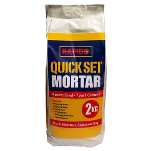 Rapide Quick Set Premixed Mortar 2Kg - Case of 6
