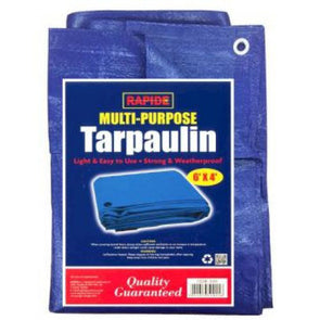 Rapide Multi Purpose Tarpaulin Blue 6ft x 4ft