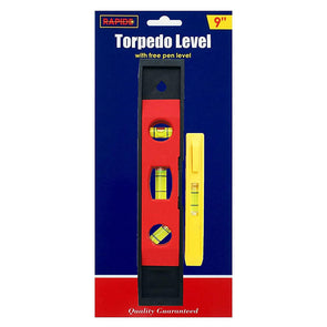 Rapide Torpedo Spirit Level with Free Pen Level