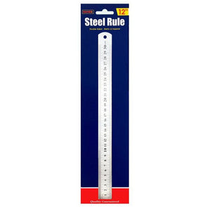 Rapide Stainless Steel Ruler 12""