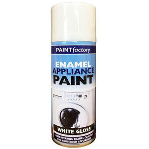 Rapide Paint Factory Enamel Appliance Spray Paint White Gloss 400ml - Case of 12