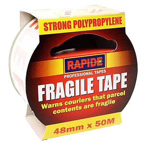 Rapide Fragile Printed Tape 48mm x 50m